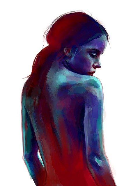 La femme nue represente un veritable art